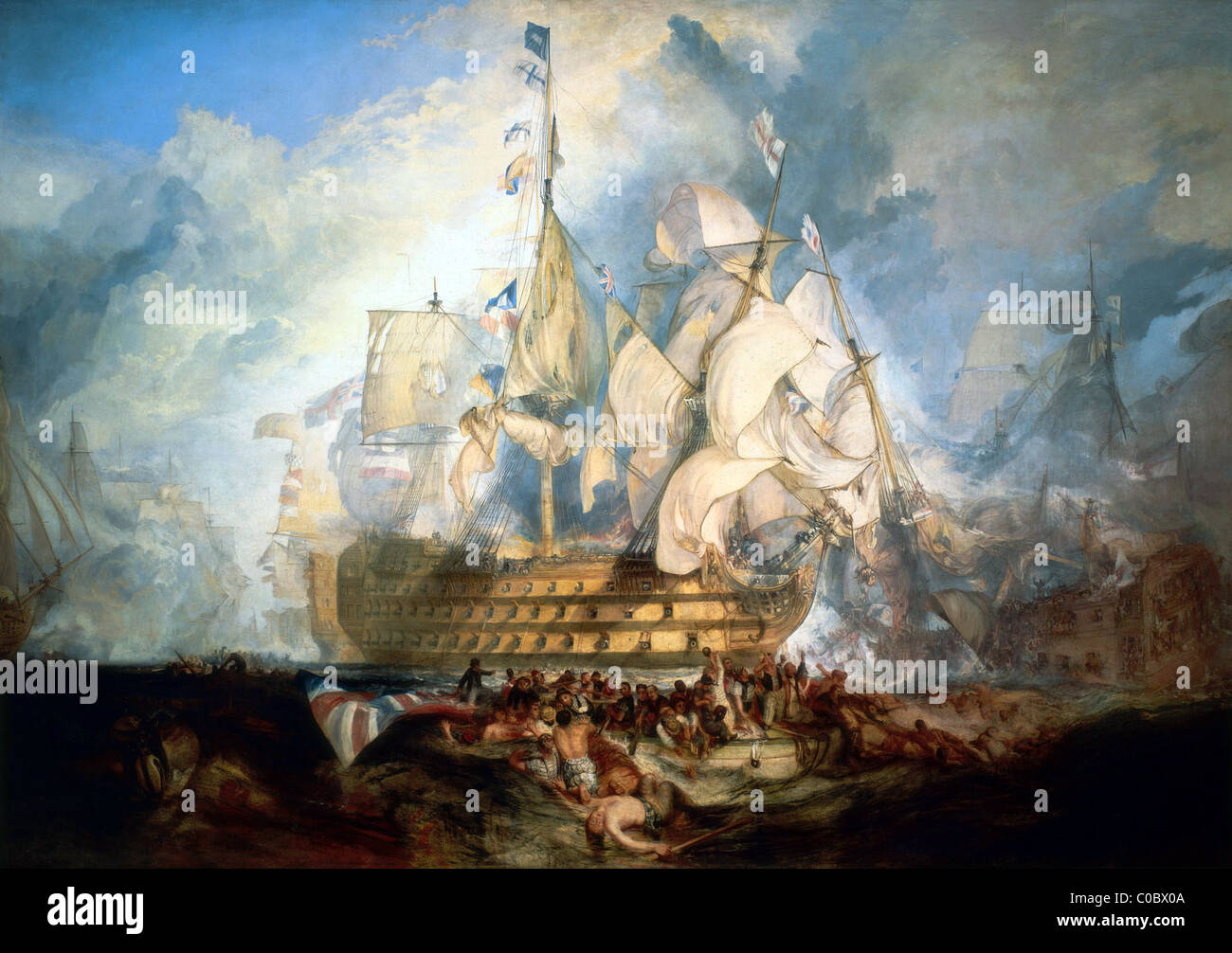 The Battle of Trafalgar. - Stock Image