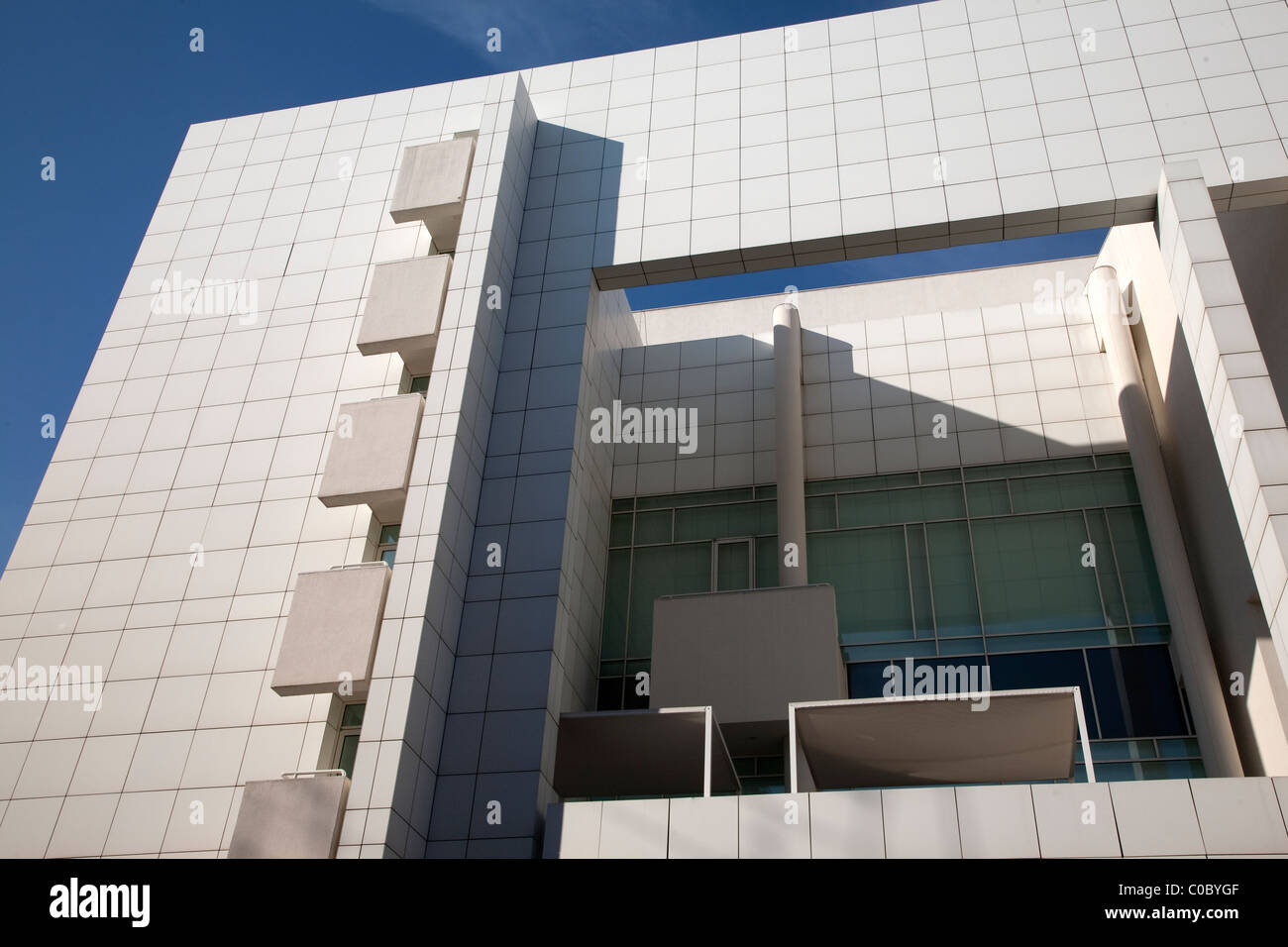 Facade of MACBA Contemporary Art Museum, Barcelona, Catalonia, Spain - Stock Image