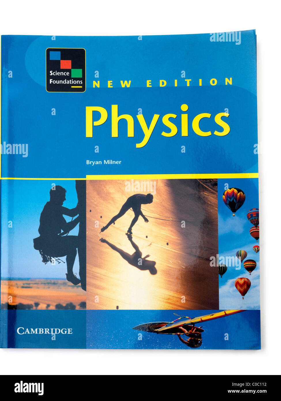 Front Cover Of An A Level Physics Textbook - Stock Image