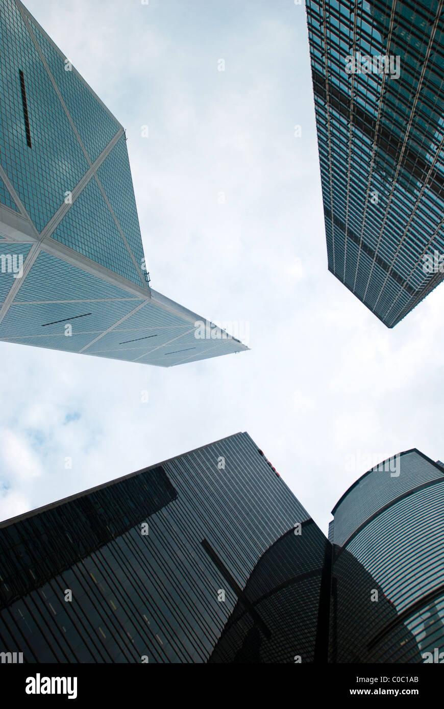 Hong Kong sky scrapers - Stock Image