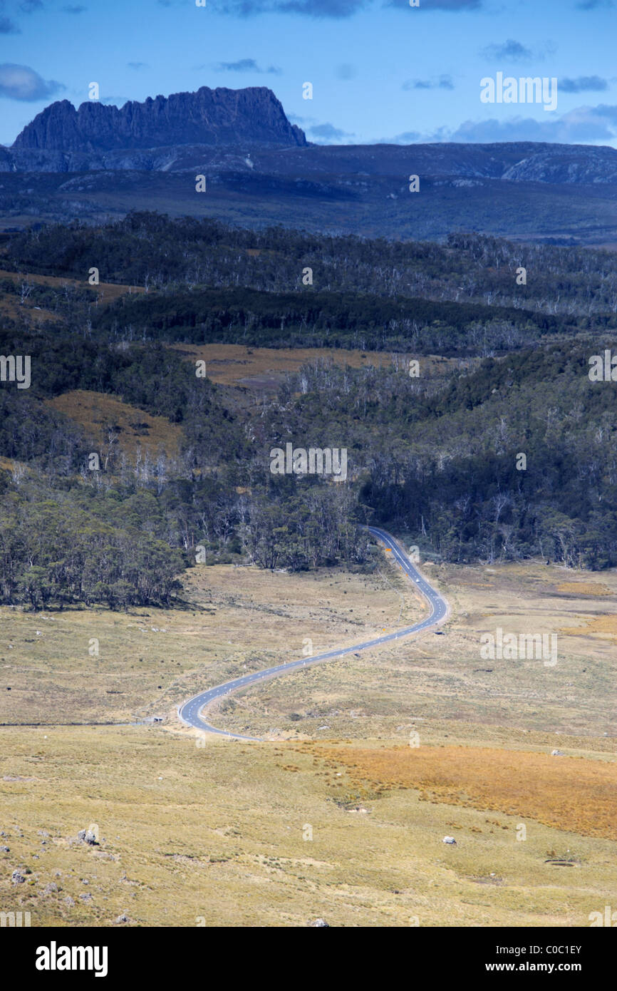 Road to Cradle Mountain. - Stock Image
