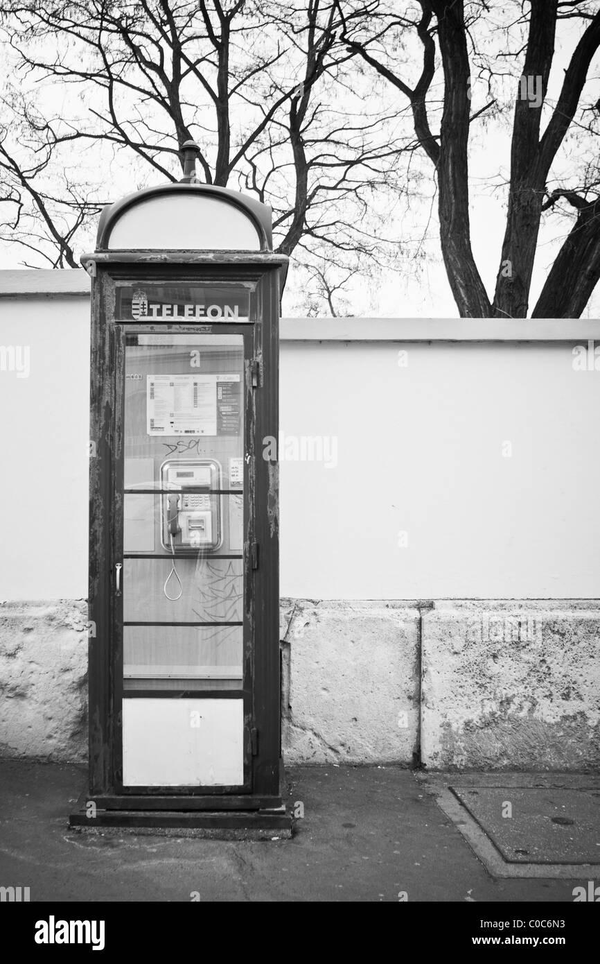 Telephone box Budapest Hungary - Stock Image