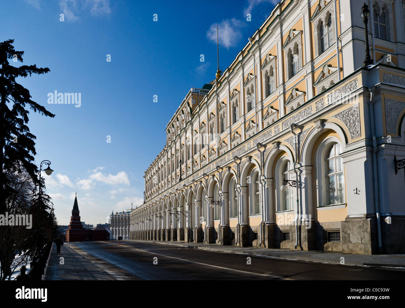 Grand Kremlin Palace. Nowadays it is a residence of president of Russia. - Stock Image