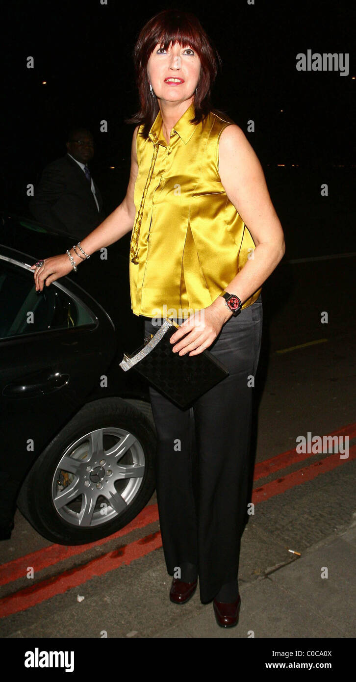 Janet Street Porter at the Royal Television Society Programme Awards 2007 at Grosvenor House London, England - 19.03.08 - Stock Image