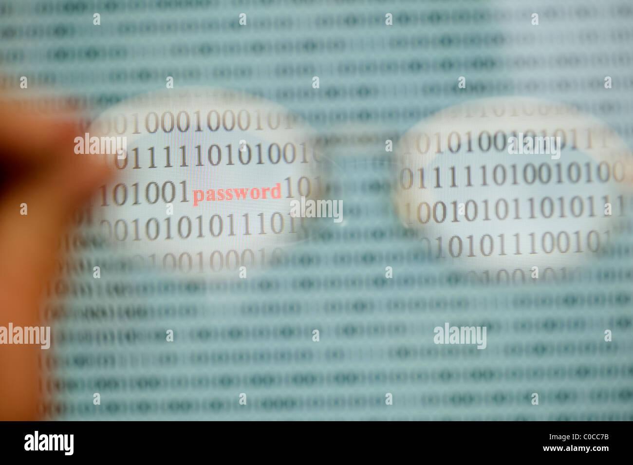 password computer - Stock Image