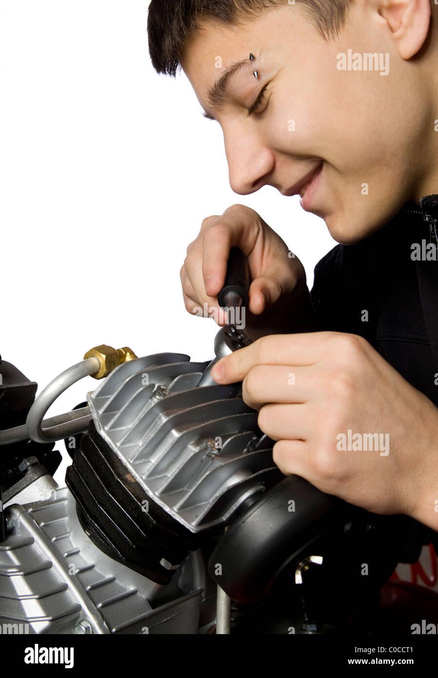 Compressor Mechanic Stock Photos Amp Compressor Mechanic