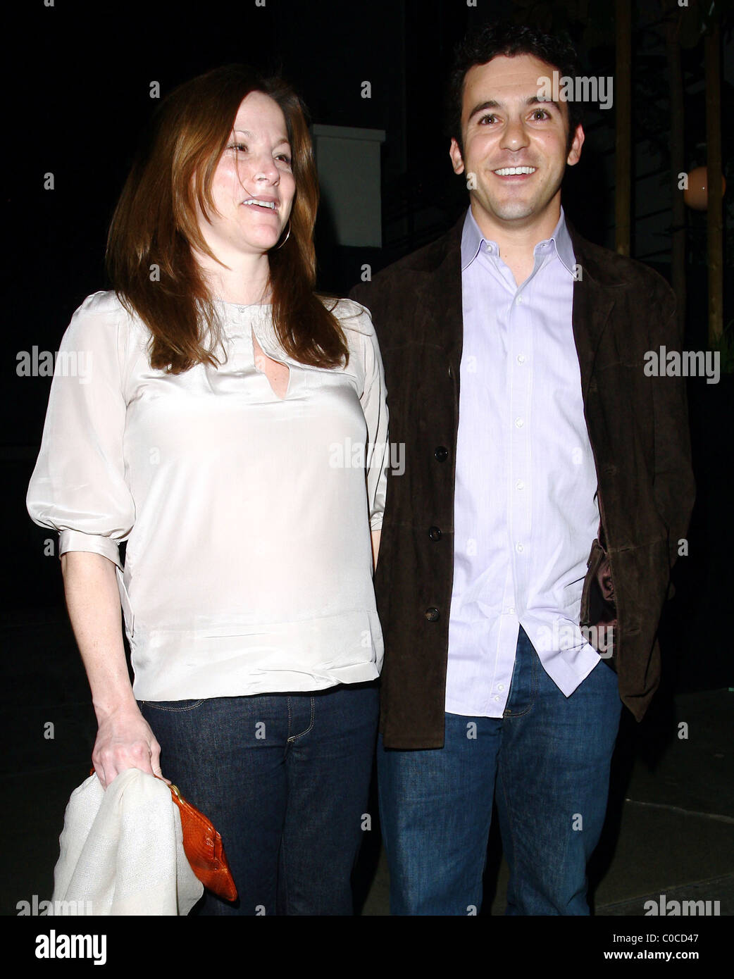 Fred Savage And Pregnant Wife Jennifer Lynn Stone Leaving Stk Stock Photo Alamy