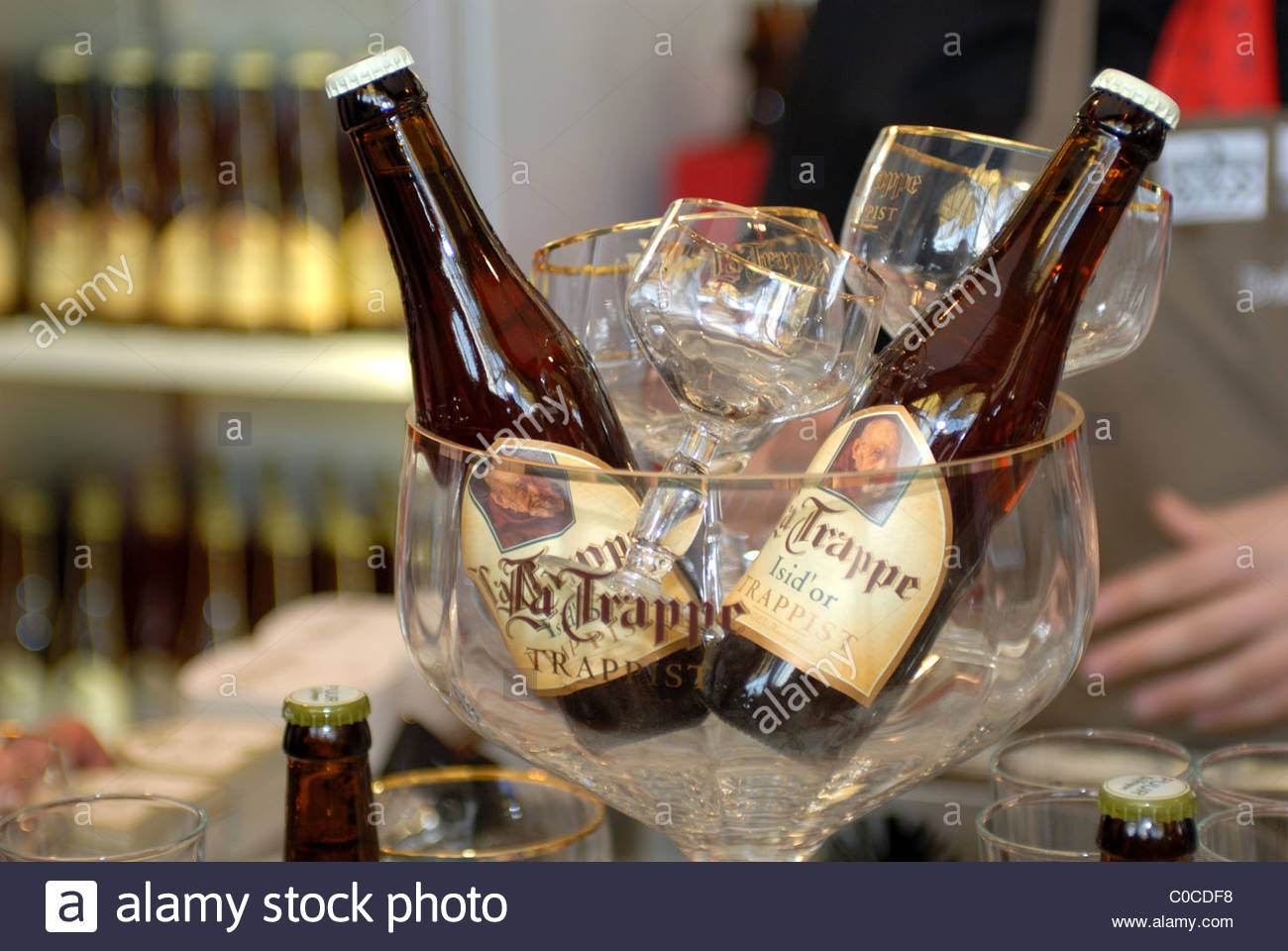 Amsterdam Annual Horecava hospitality trade fair. La Trappe trappist beers. - Stock Image