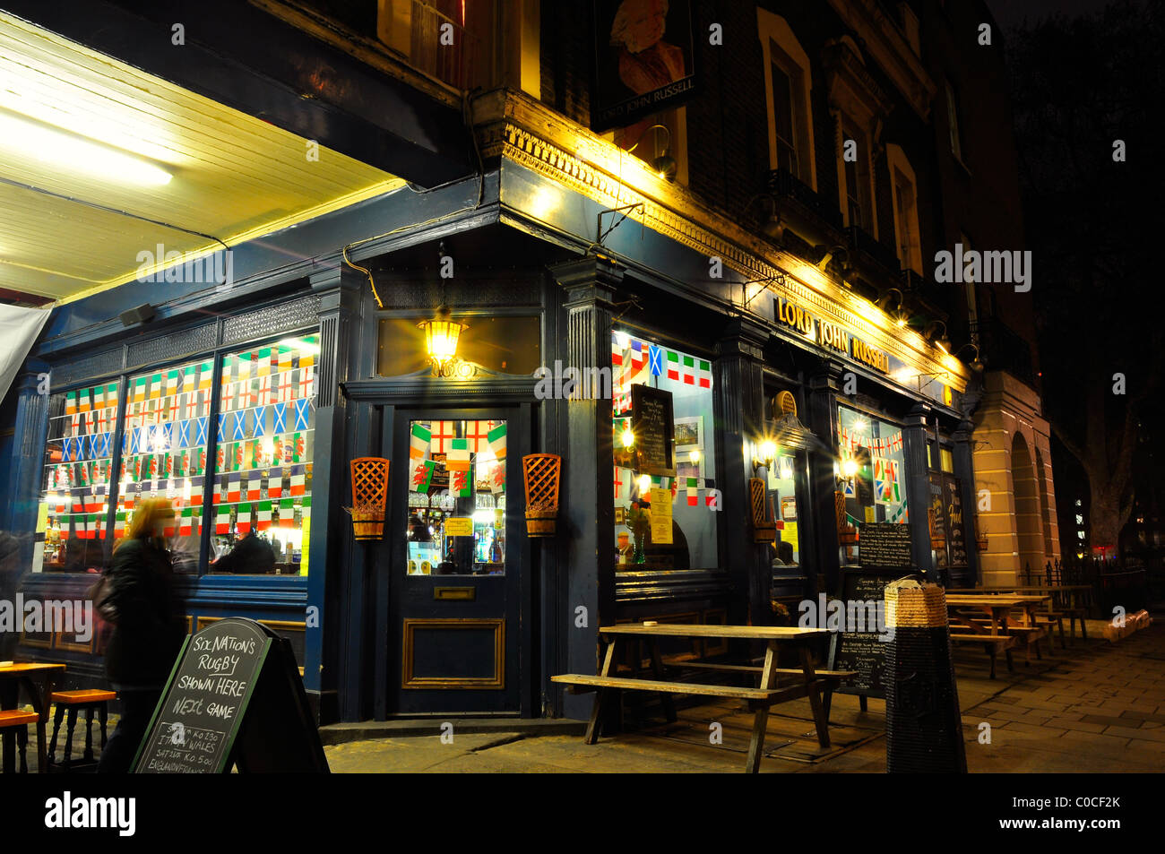 Lord John Russell Pub in London - Stock Image