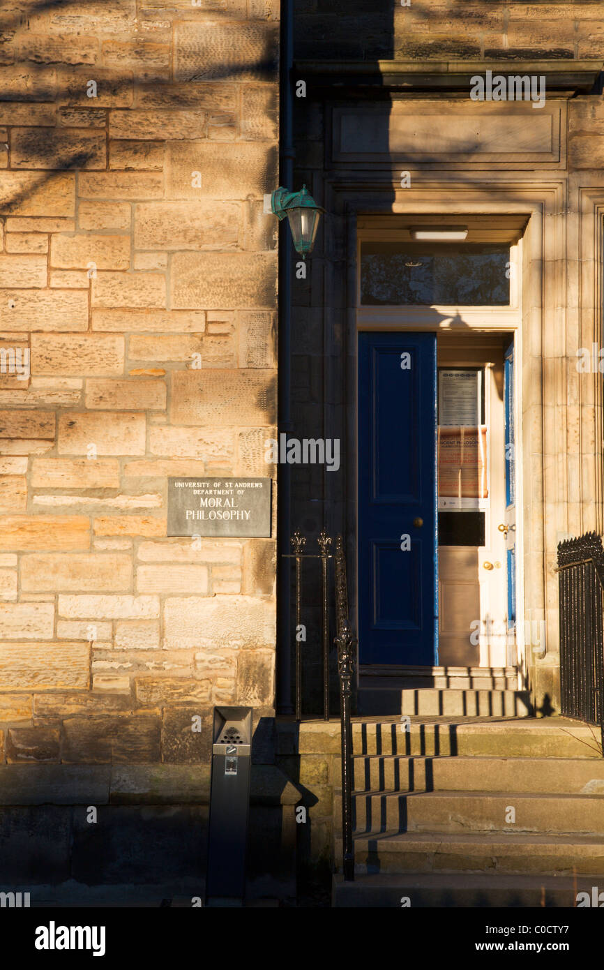 University of St Andrews Department of Moral Philosophy St Andrews Fife Scotland - Stock Image