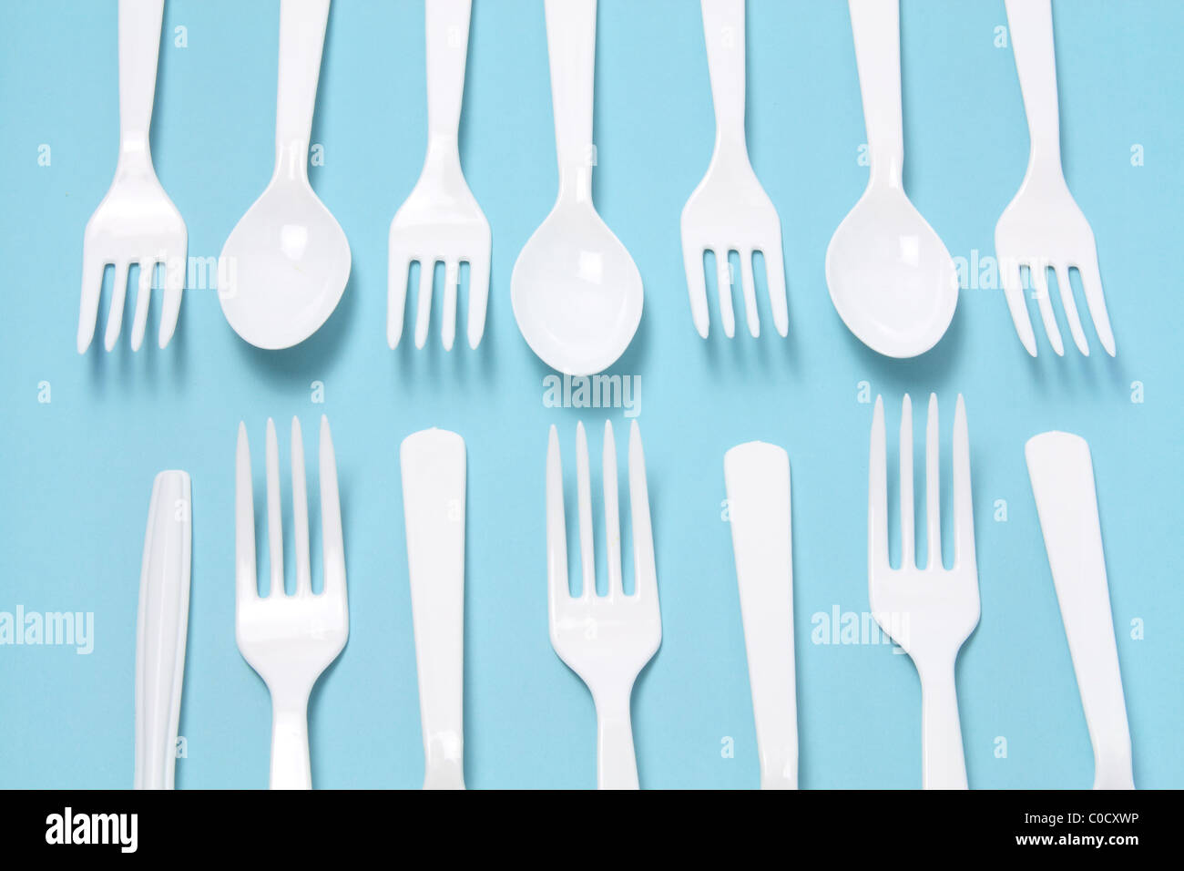 Plastic Forks and Knives - Stock Image