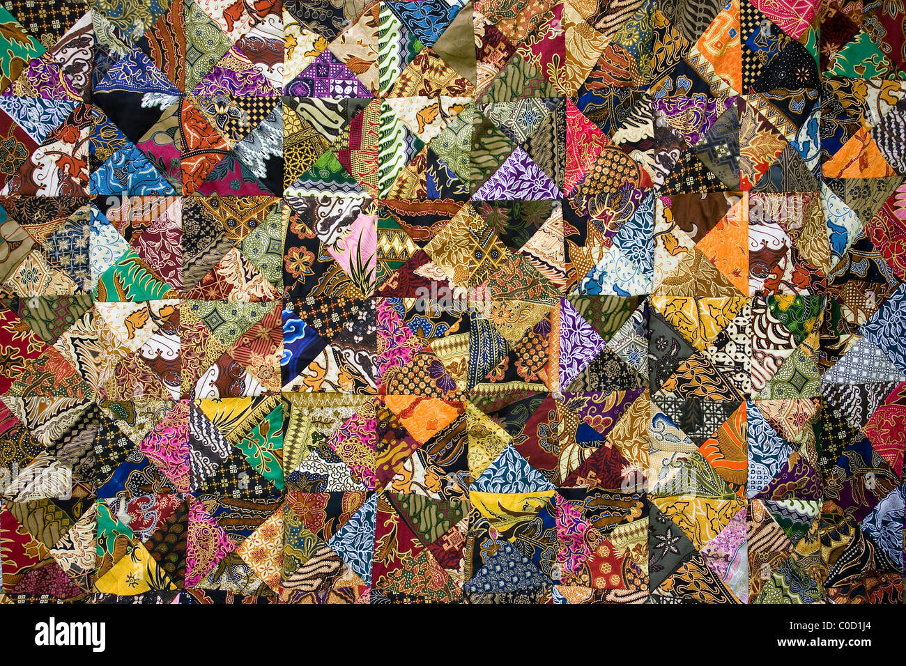 Balinese patchwork quilt, Bali, Indonesia. - Stock Image