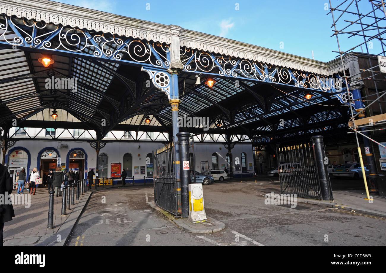 Brighton Station Taxi rank - Stock Image