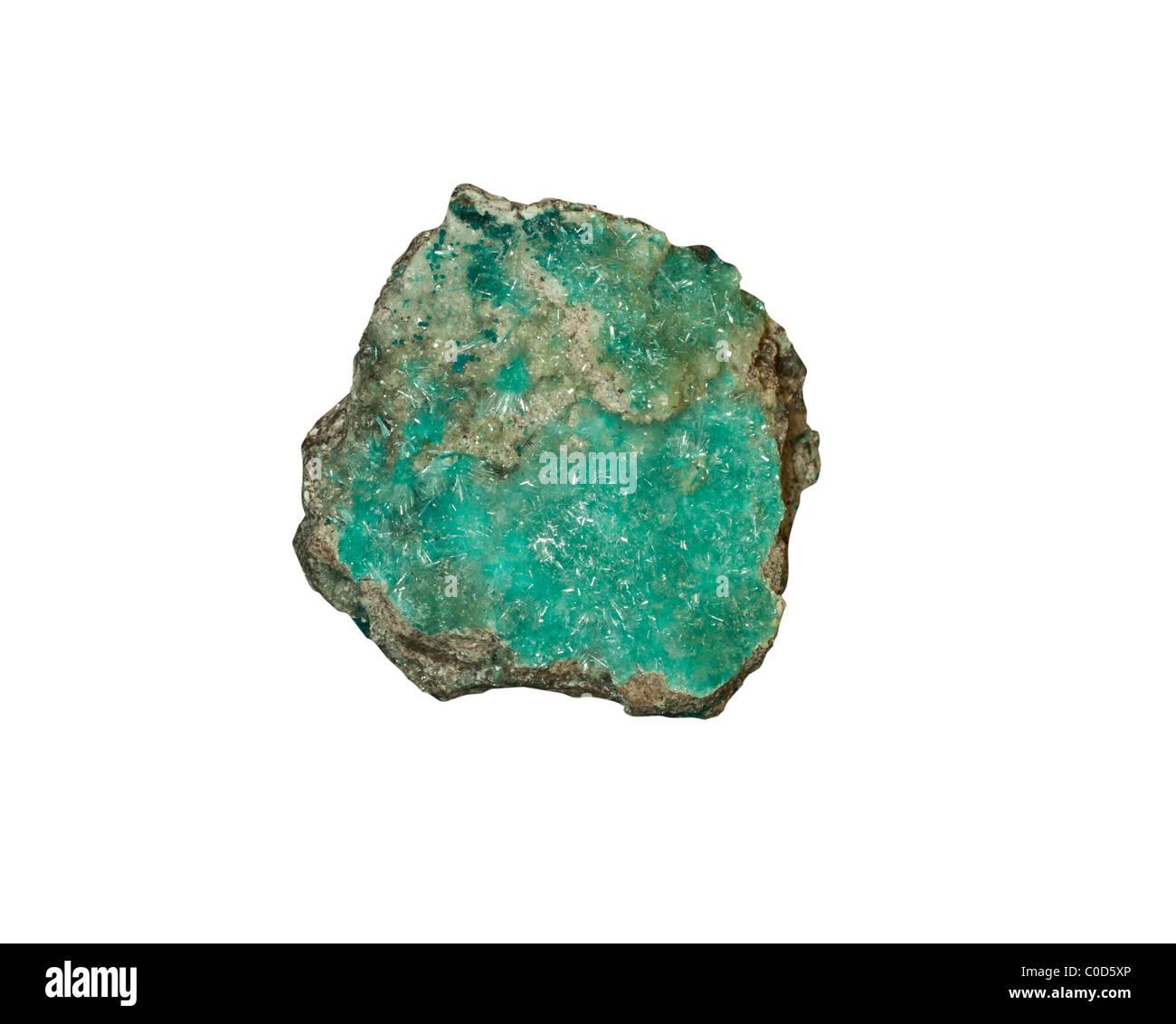 Aurichalcite and Rosasite Minerals Durango Mexico - Stock Image