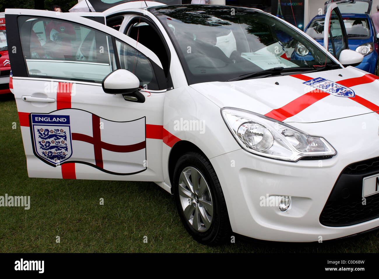 A Ford Fiesta At A Car Show Event Displaying The Logo And Symbol Of