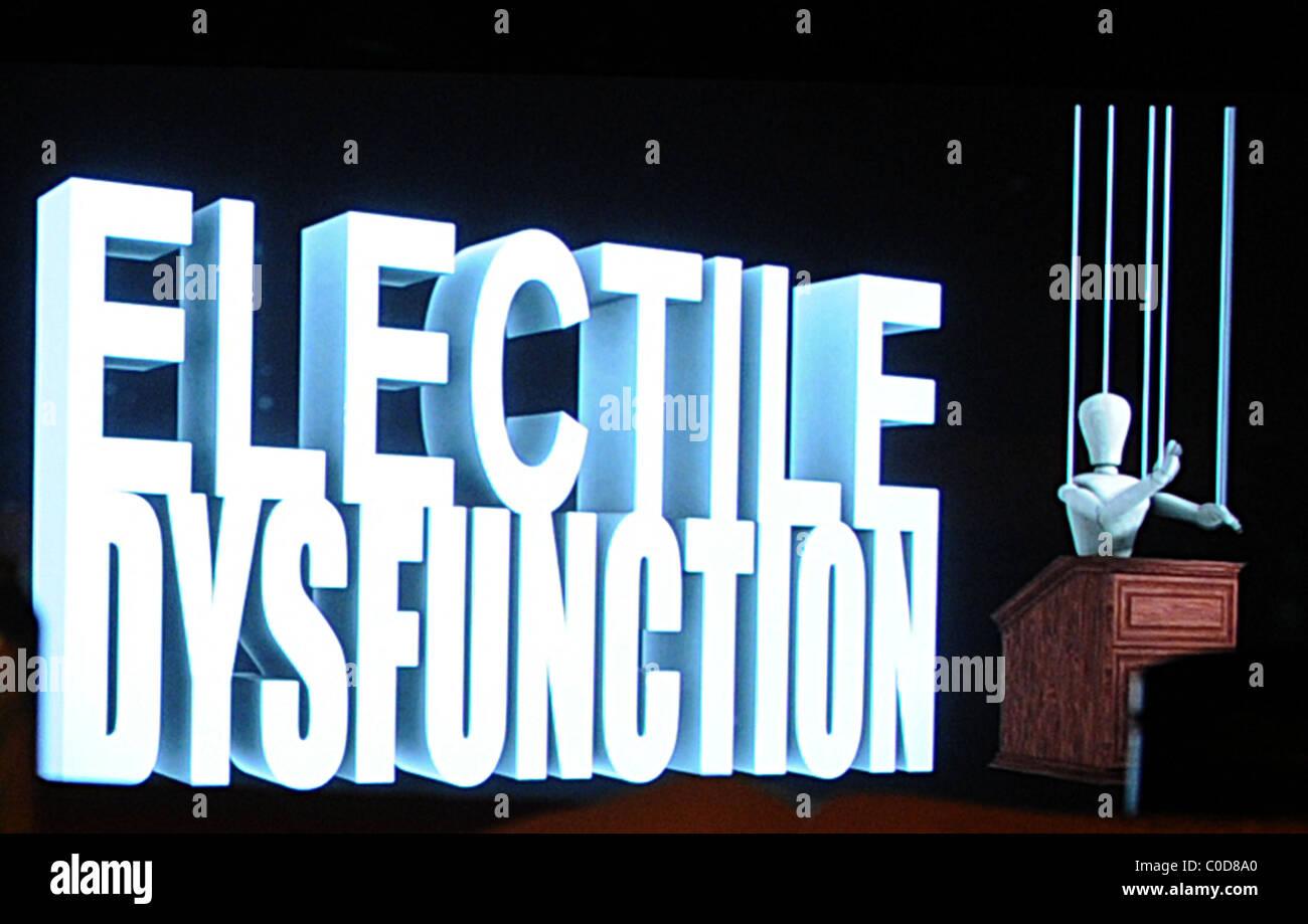 Premiere of the political documentary 'Electile Dysfunction' at the Philadelphia Film Festival 2008 Philadelphia, - Stock Image
