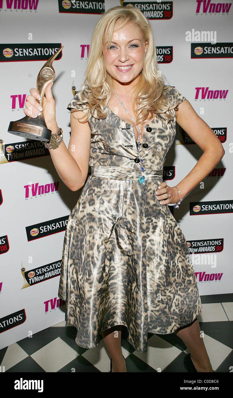Rita Simons  Winner of best newcomer TV Now Awards 2008 held at the Mansion House Dublin, Ireland - 12.04.08Stock Photo