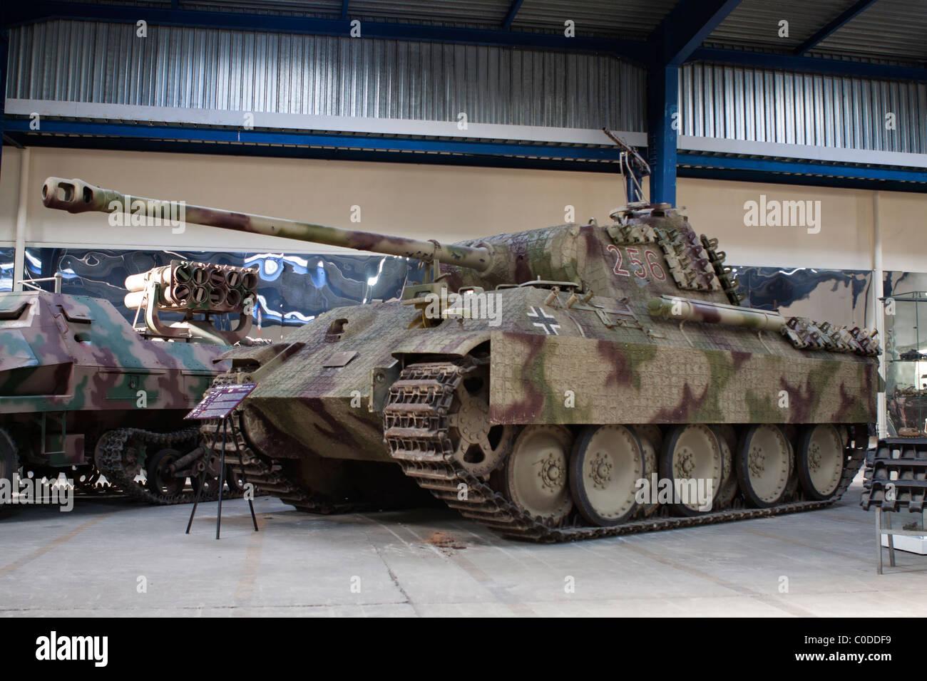 German Panzerkampfwagen V Panther (Sd.Kfz. 171), tank museum of Saumur - Stock Image