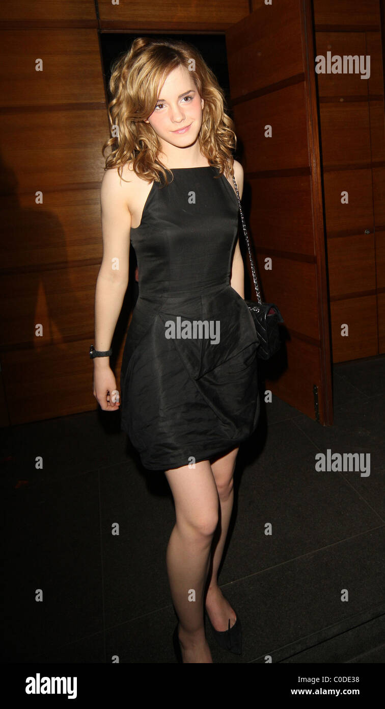 Emma Watson Leaving Her 18th Birthday Party Held At Automat Stock Photo Alamy