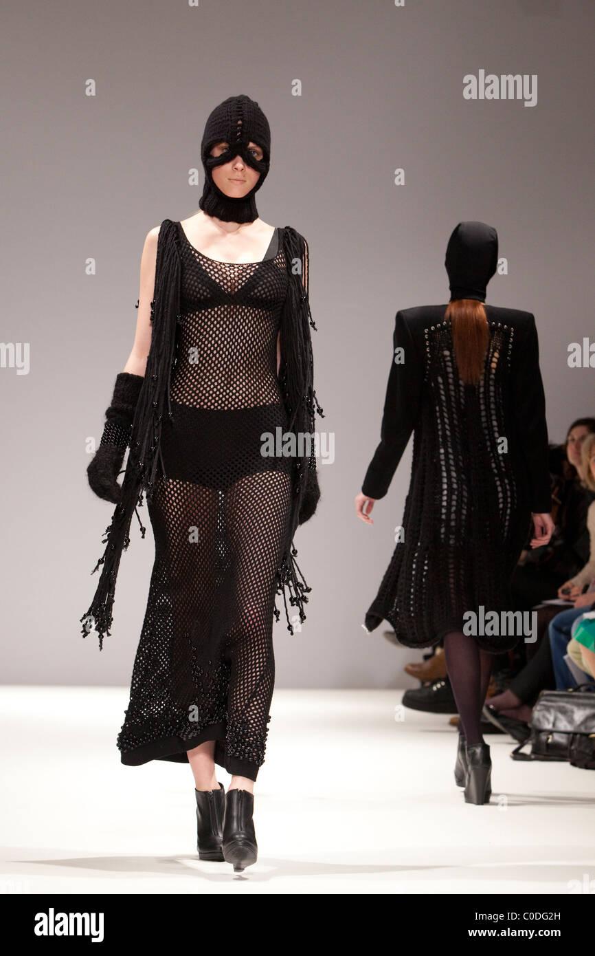 London Fashion Week, Collection by designer Sara Bro-Jorgensen, Ones to Watch, Vauxhall Fashion Scout Stock Photo