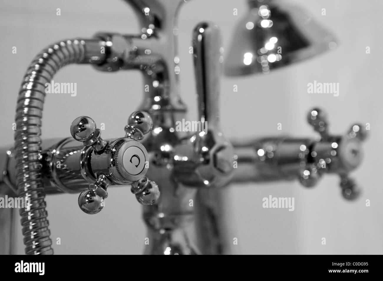 Classic bath taps - Stock Image