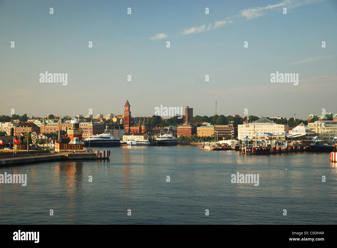 Sweden city Helsingborg is situated near the Kattegat sea. - Stock Image