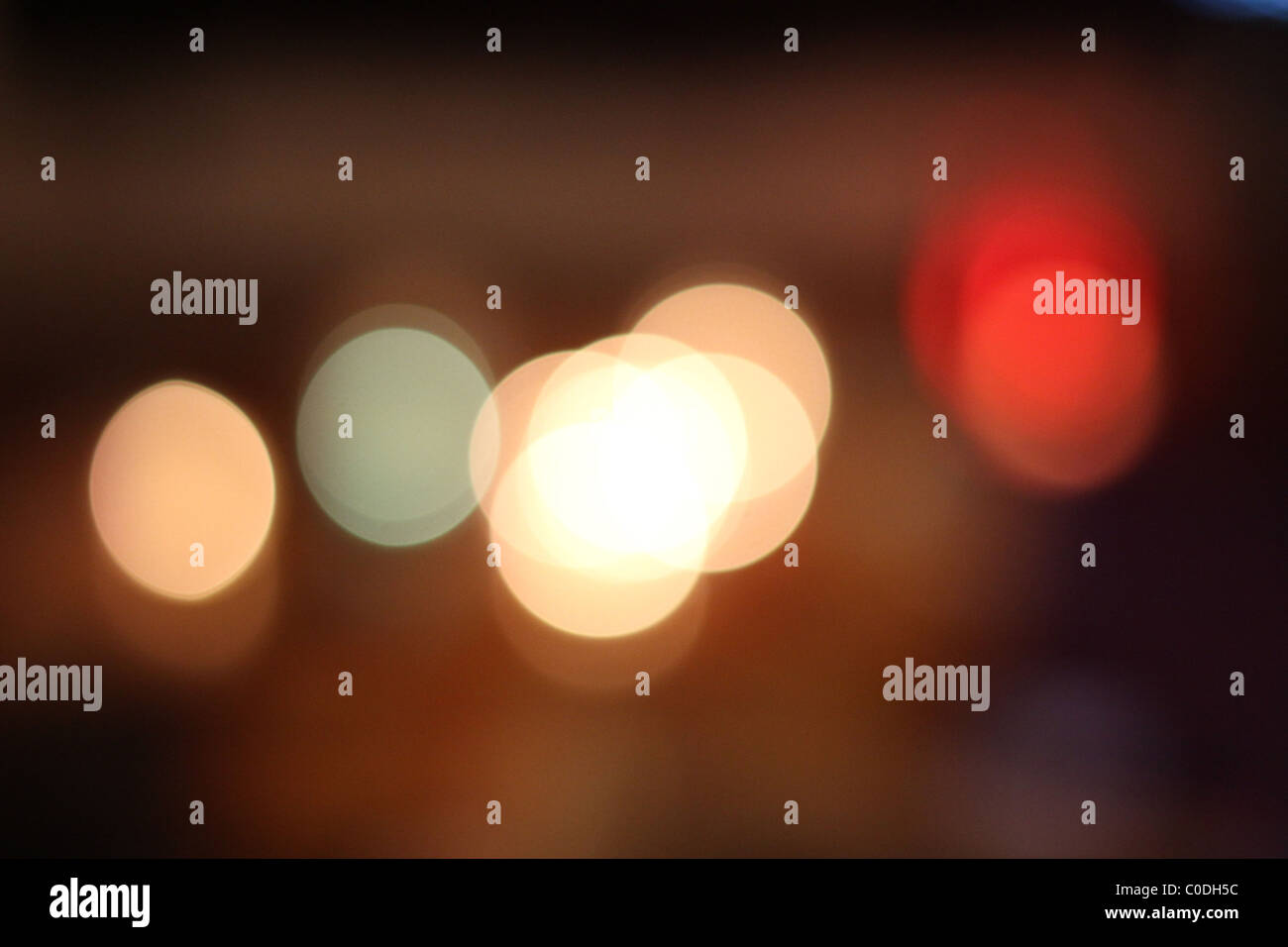 Abstract light bokeh - Stock Image