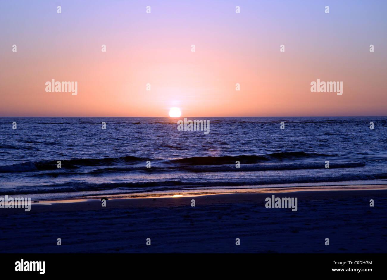 Dawn, Siesta Key Beach, Florida, Sarasota, USA - Stock Image