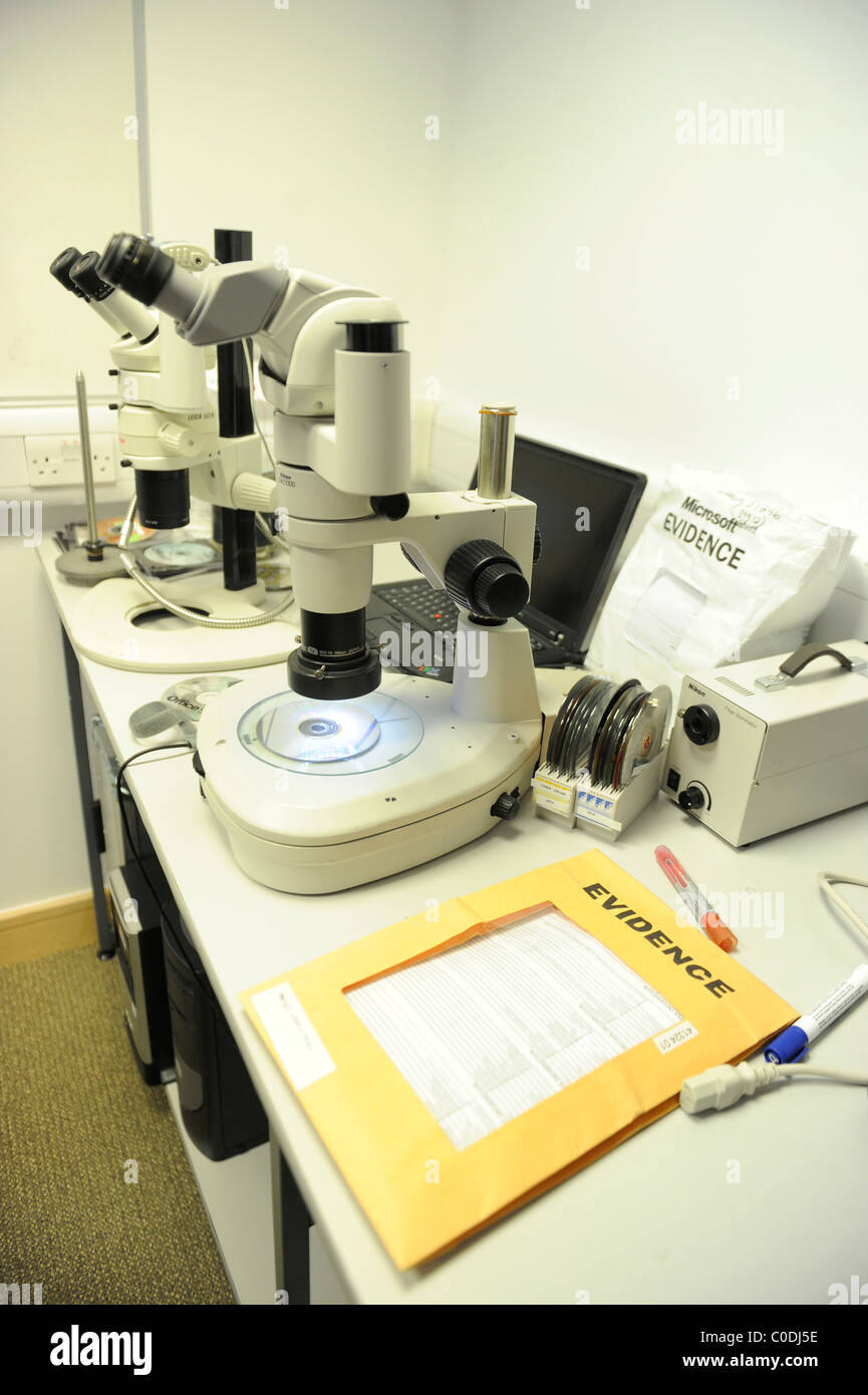 The Forensic and Crime Lab of of Microsoft Ireland. - Stock Image