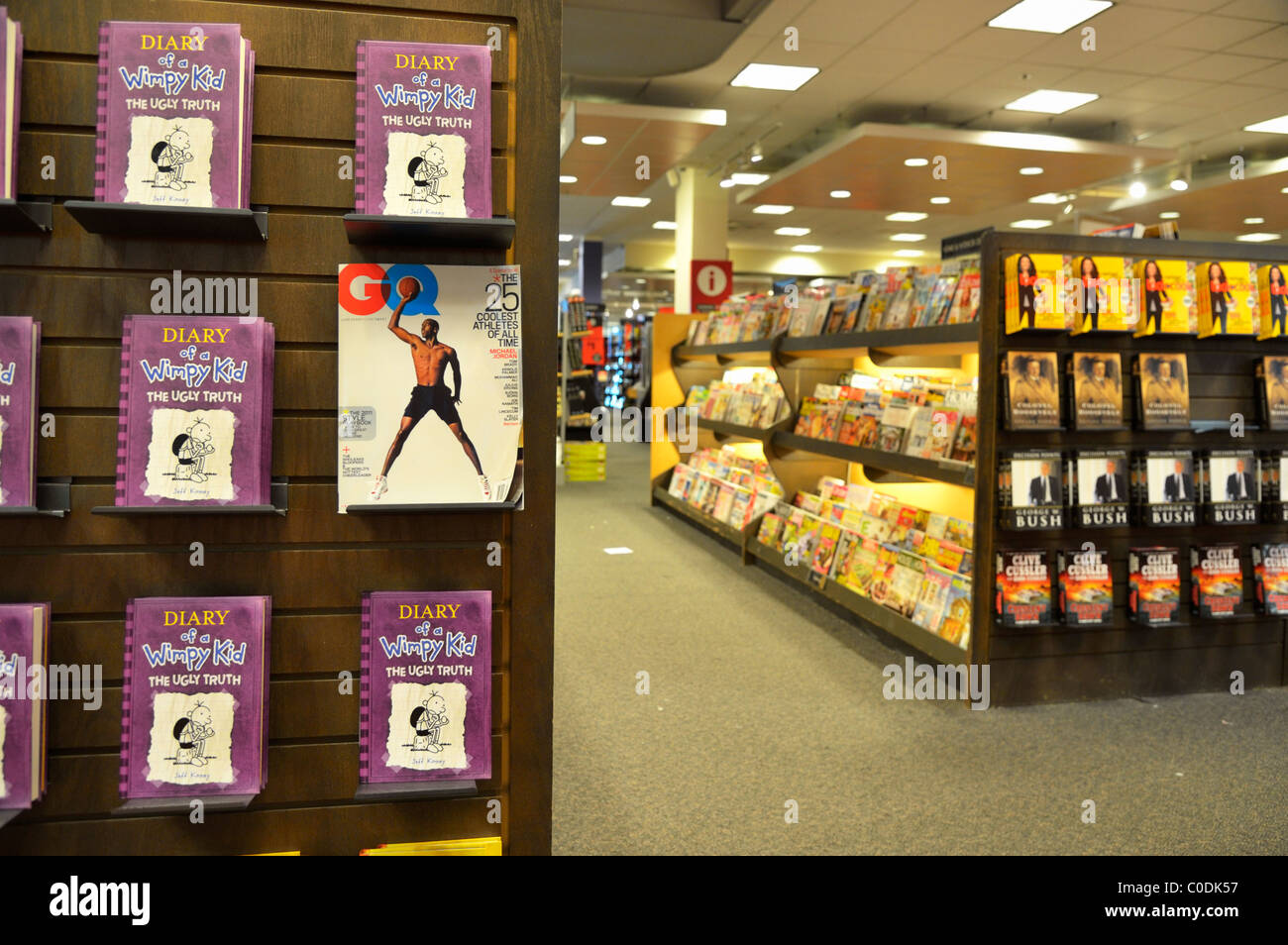 GQ Special Issue on a newspaper stand at Borders bookstore, San Jose, California CA - Stock Image
