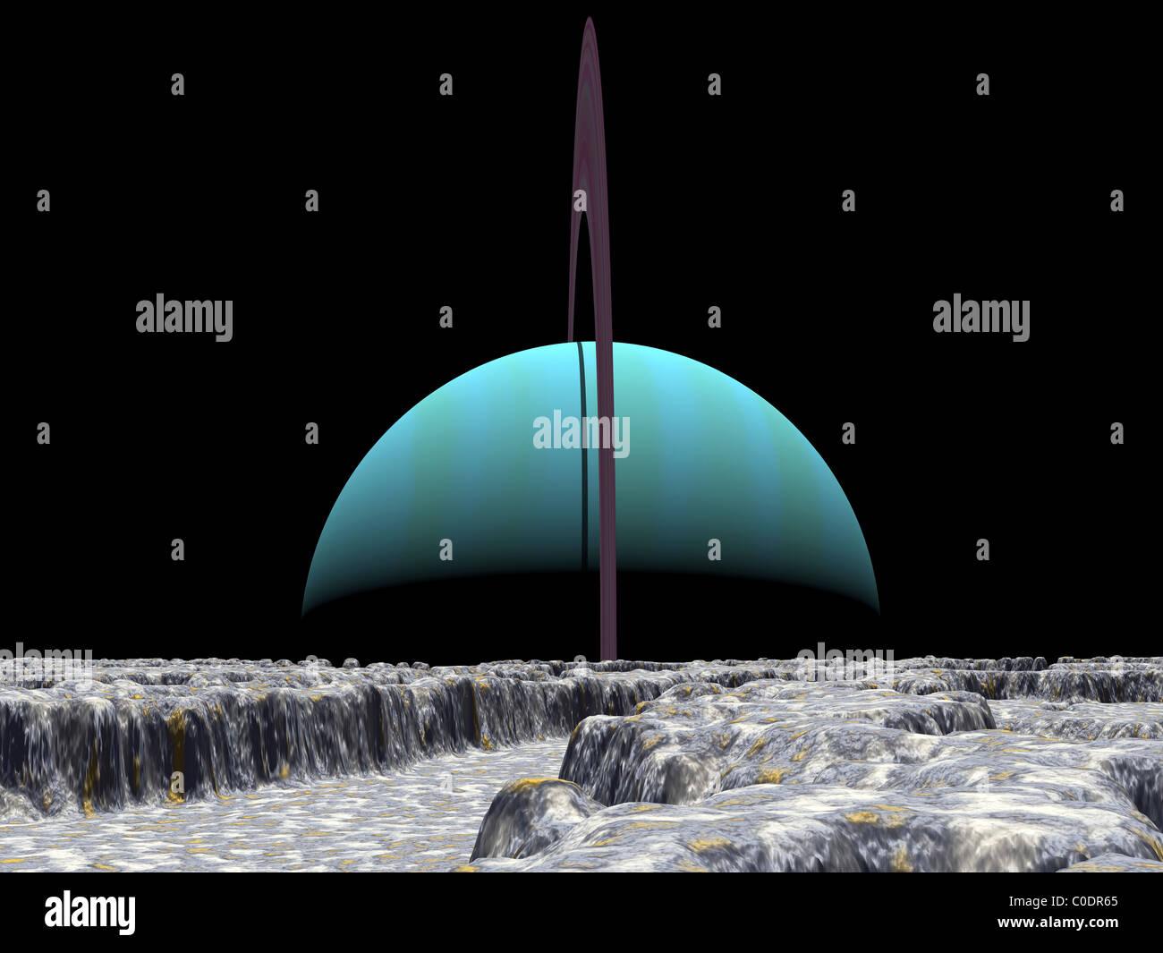 Illustration of the giant extrasolar planet 70 Virginis b. - Stock Image