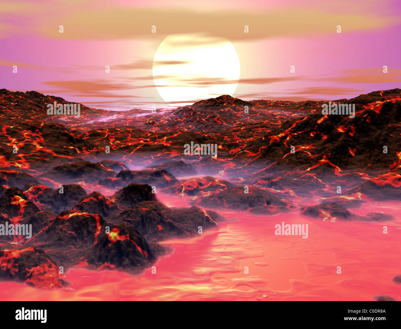The Sun begins its journey toward becoming a red giant. - Stock Image