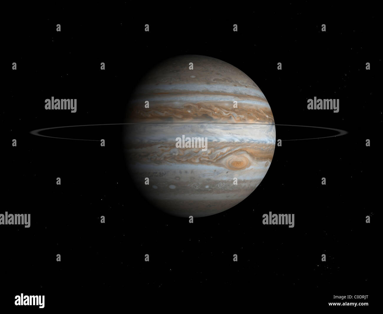 Artist's concept of the planet Jupiter. - Stock Image