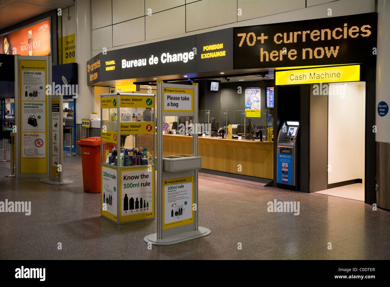 Airport liquids security stock photos airport liquids security stock images alamy - Gatwick airport bureau de change ...
