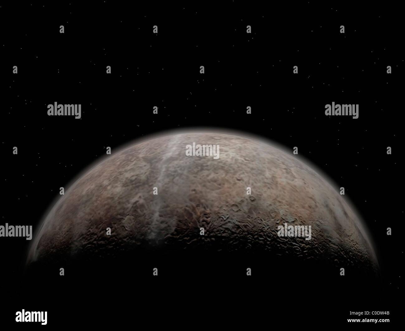 Artist's concept of Pluto. - Stock Image