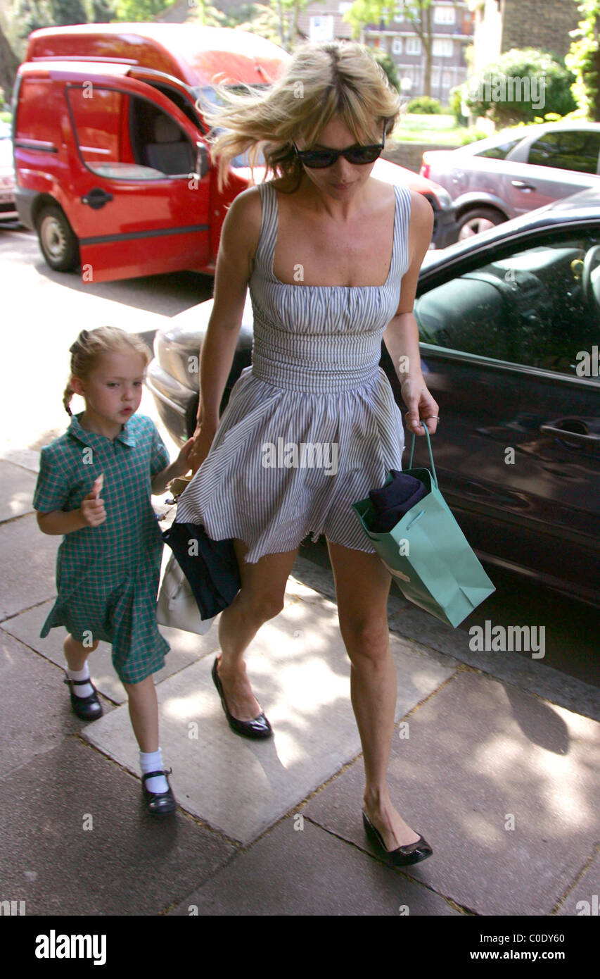 Kate Moss collects her daughter Lila Grace from school London, England - 12.05.08 - Stock Image