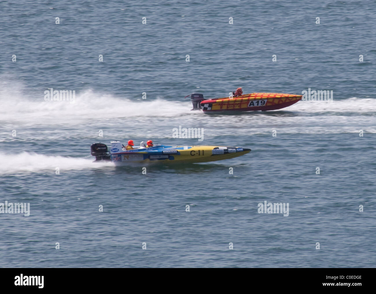 Offshore Powerboats Plymouth Sound Stock Photo: 34738718 - Alamy
