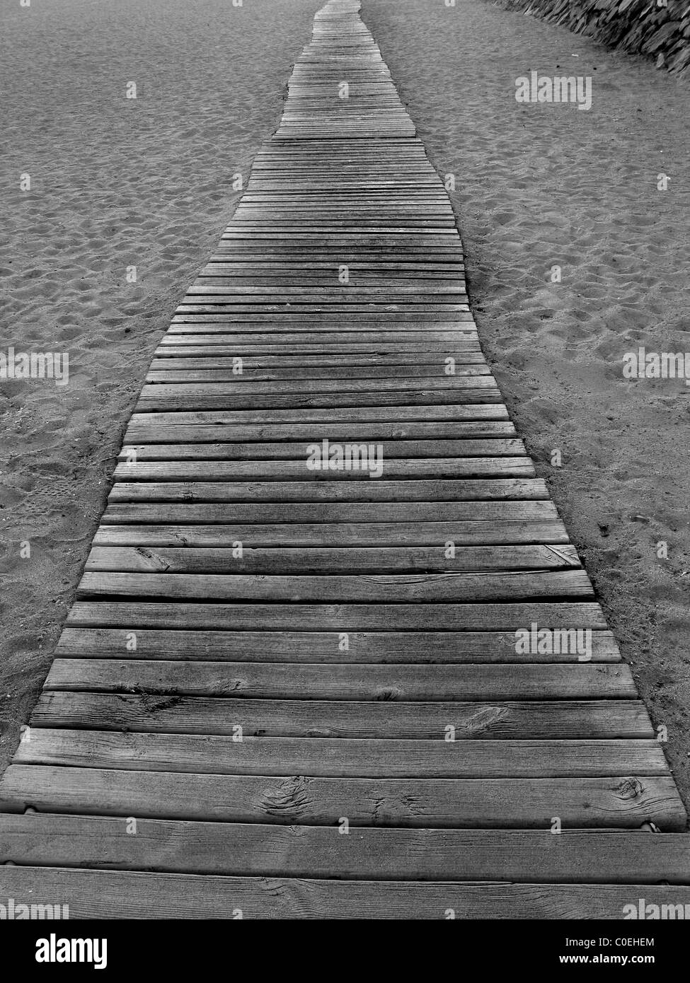 Beach boardwalk - Stock Image