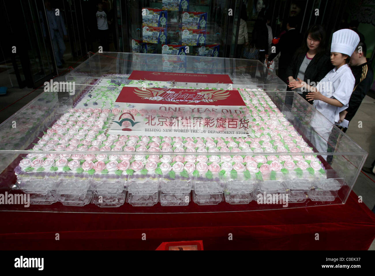Astonishing Cake Fills Department Store A Gigantic Birthday Cake Displayed On Funny Birthday Cards Online Fluifree Goldxyz