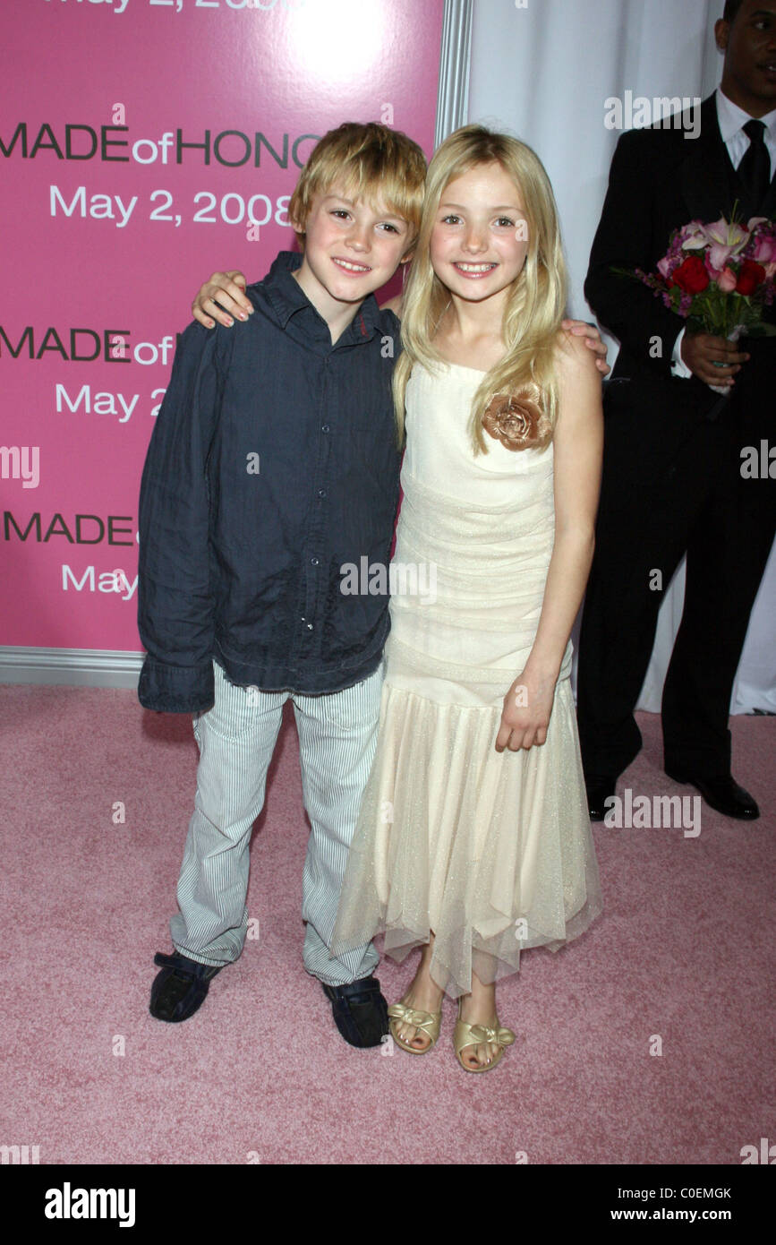spencer list and peyton list world premiere of made of honor held