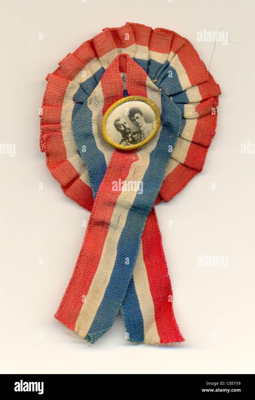 Patriotic rosette for Coronation of George V - Stock Image
