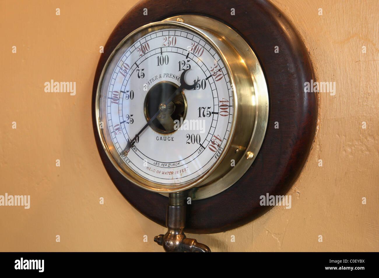Water Pressure Gauge - Stock Image