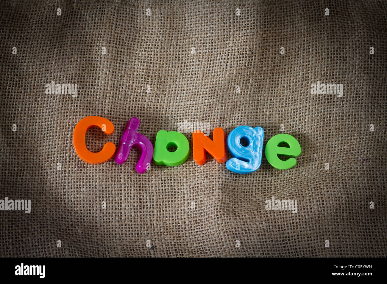 Change Dictionary Definition Low key close up - Stock Image