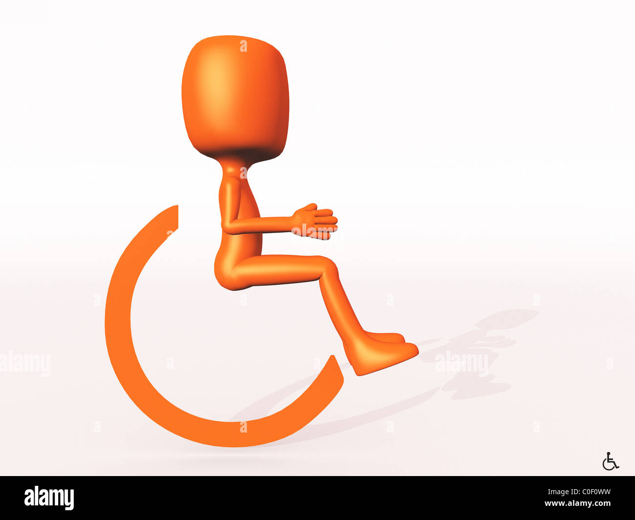 Sign - Wheelchair - Stock Image