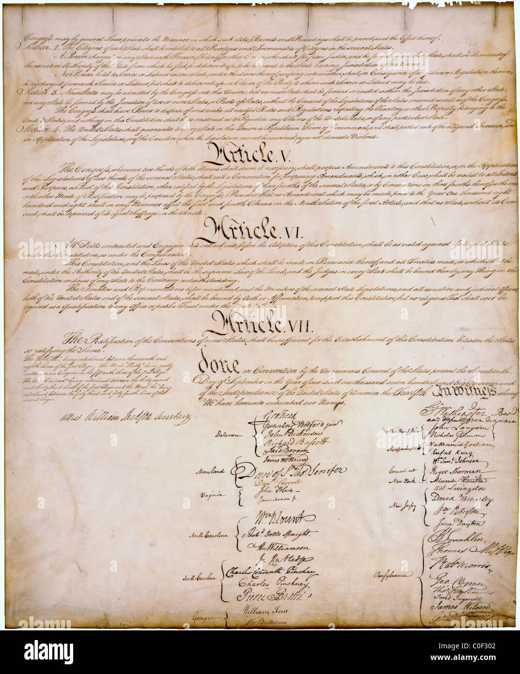 Constitution 1787 Stock Photos & Constitution 1787 Stock Images - Alamy