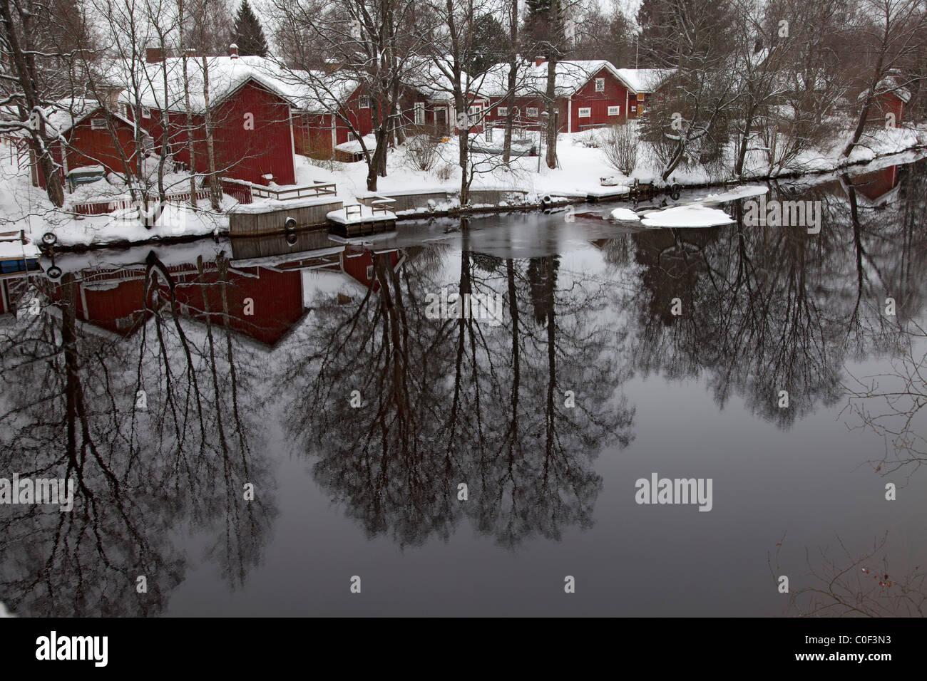 Finnish river landscape - Stock Image