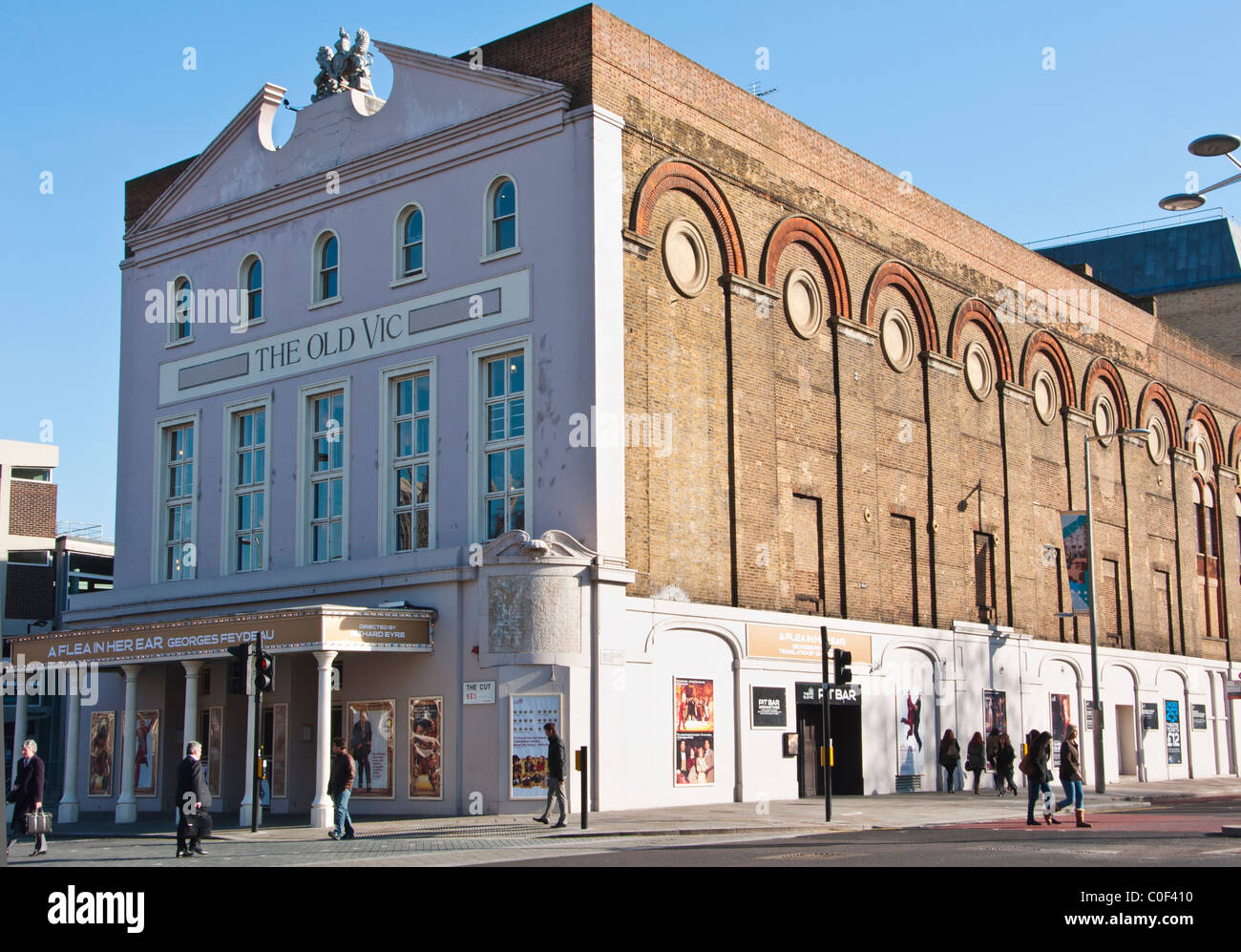 The Old Vic theatre, London, England. - Stock Image
