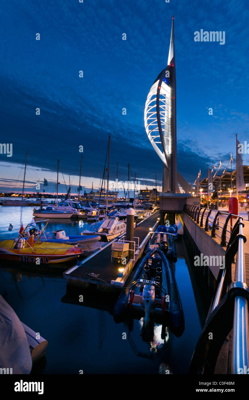 The Spinnaker Tower at sunset Stock Photo