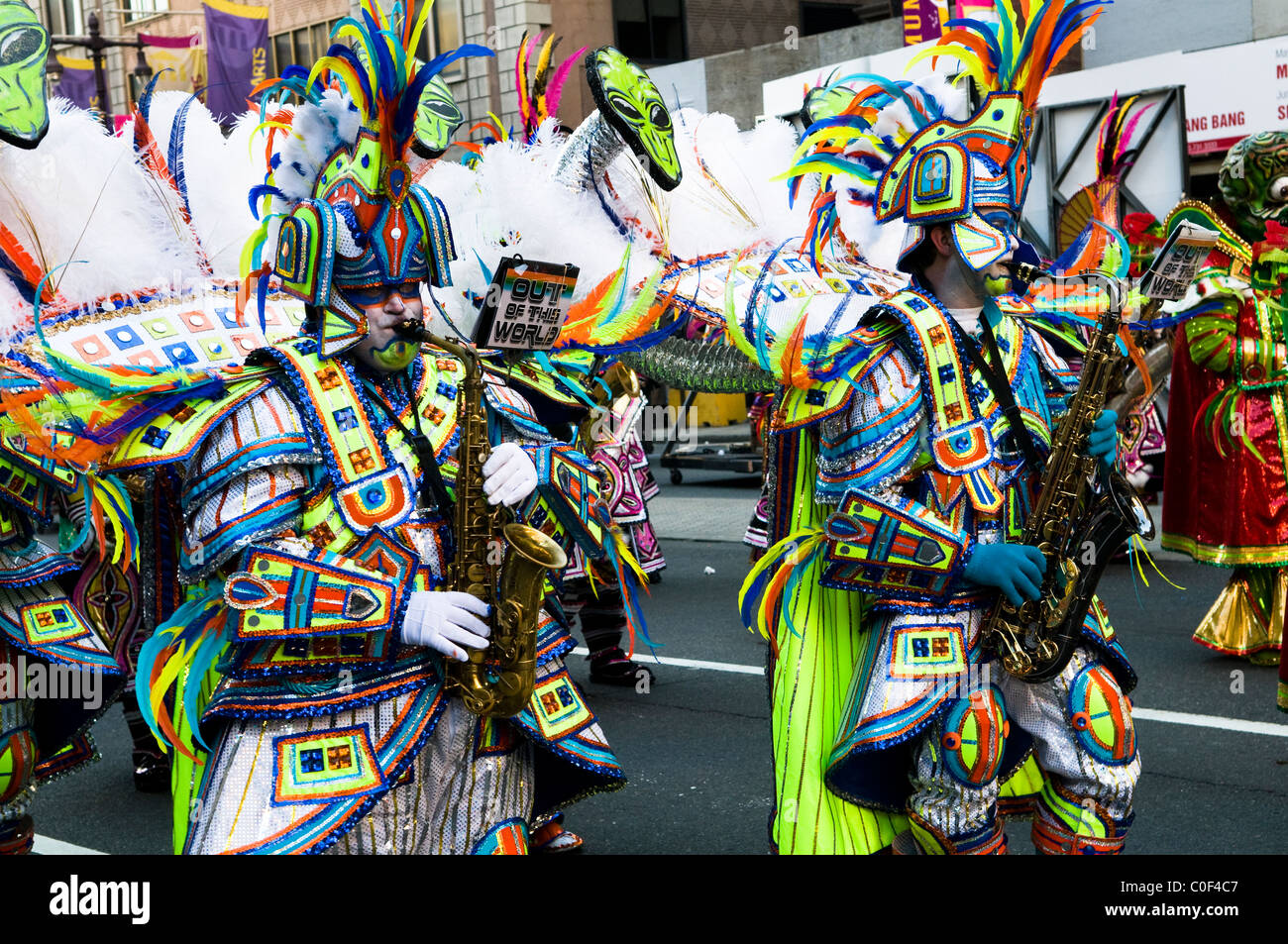 The colorful Mummers parade in Philadelphia, USA. - Stock Image