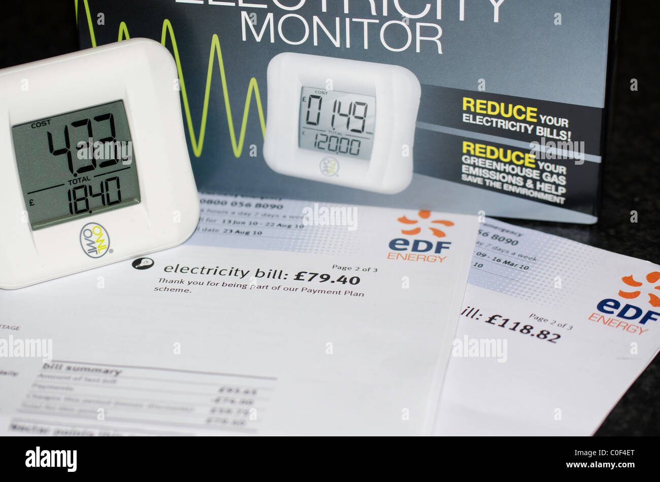 Owl electricity usage monitor, energy awareness - Stock Image